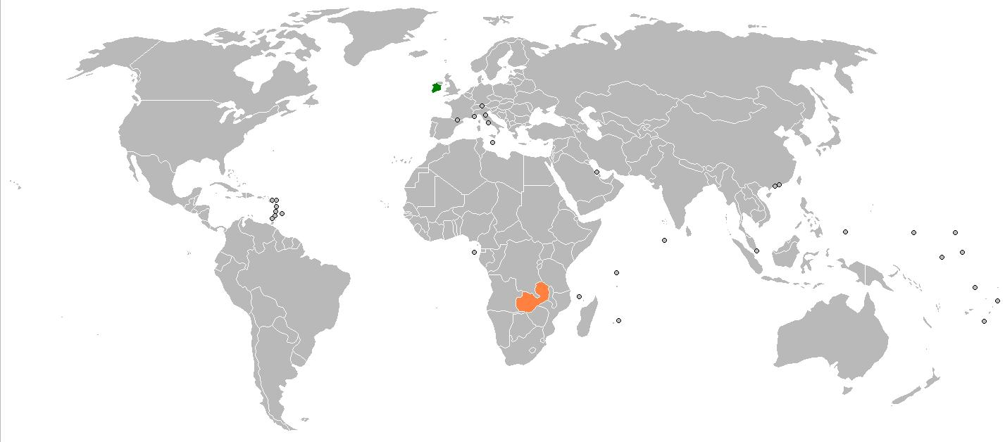 Cartina Mondo Orientale.Zambia Sulla Mappa Del Mondo Zambia Mappa Del Mondo Africa Orientale Africa