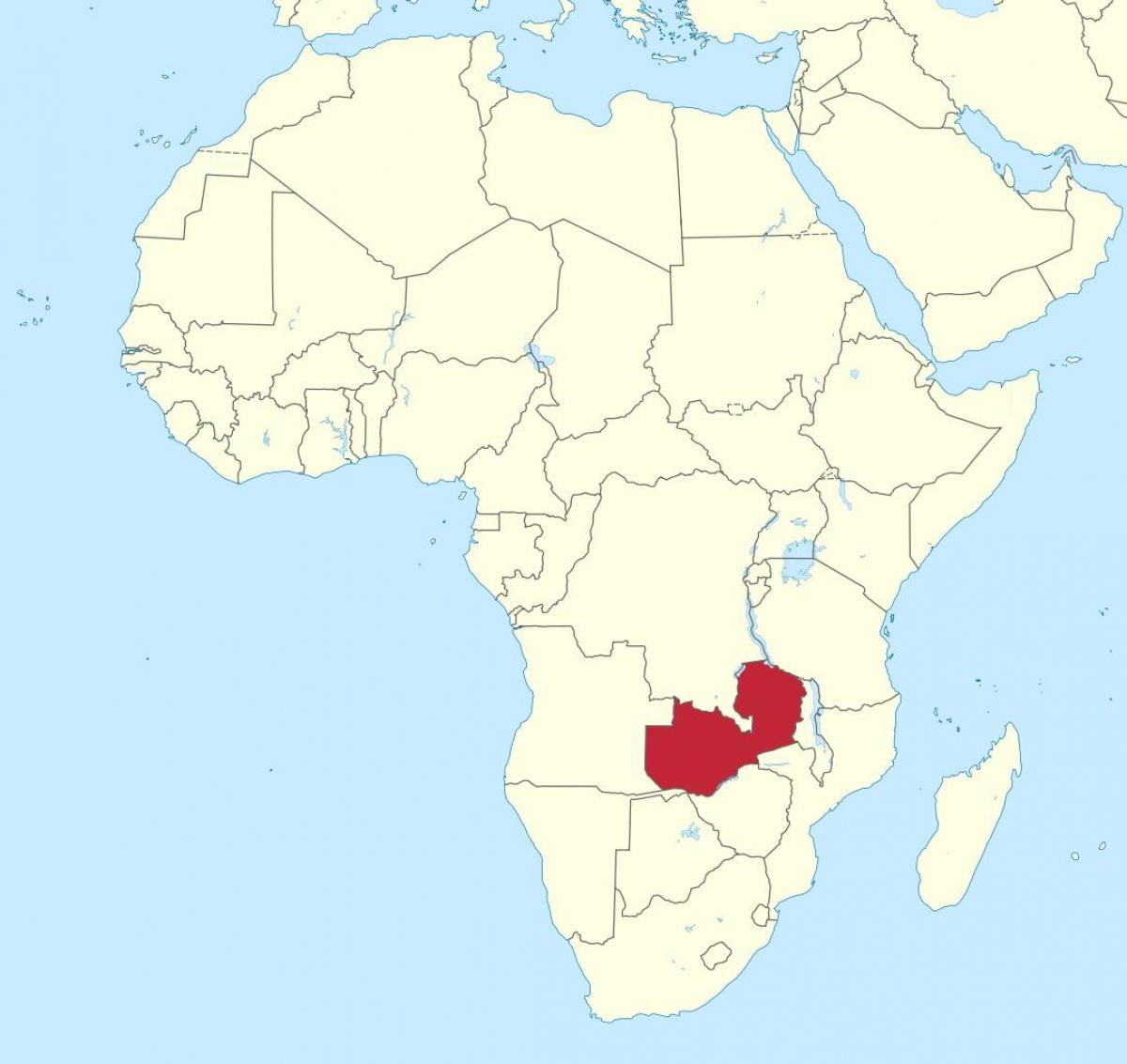 Cartina Dell Africa Orientale.Zambia Africa Mappa Mappa Dell Africa Mostrando Zambia